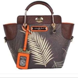 Palm Leaf Mini Satchel Bag